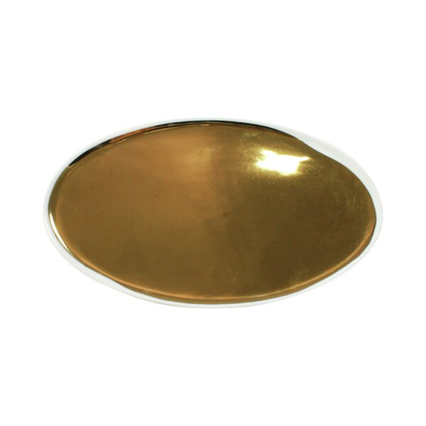 DwellStudio Marais Gold Glazed Oval Platter