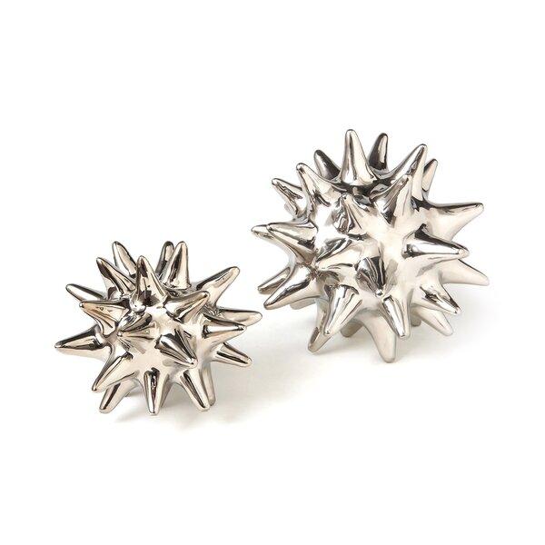 DwellStudio Urchin Shiny Silver Objet