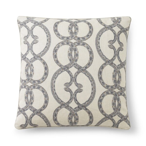 DwellStudio Snake Chain Dove Pillow Cover
