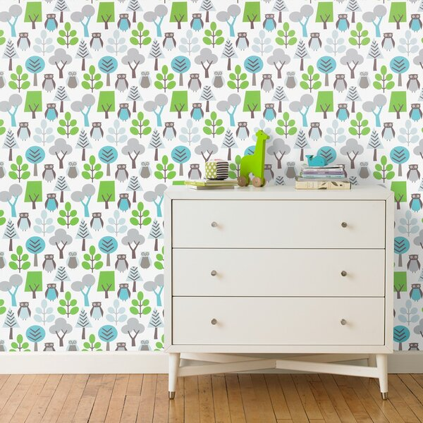 DwellStudio Owls Wallpaper