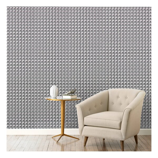 DwellStudio Deco Border Ink Wallpaper