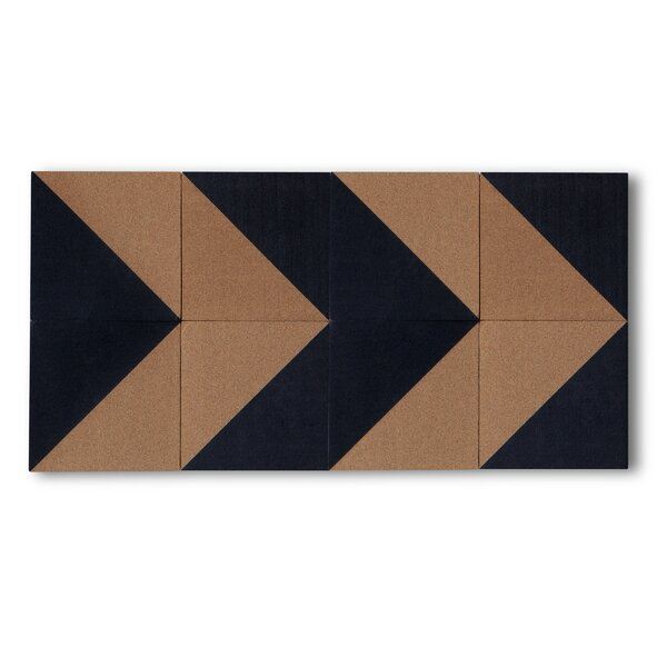 DwellStudio 8 Piece Geometric Cork Board Tile Set