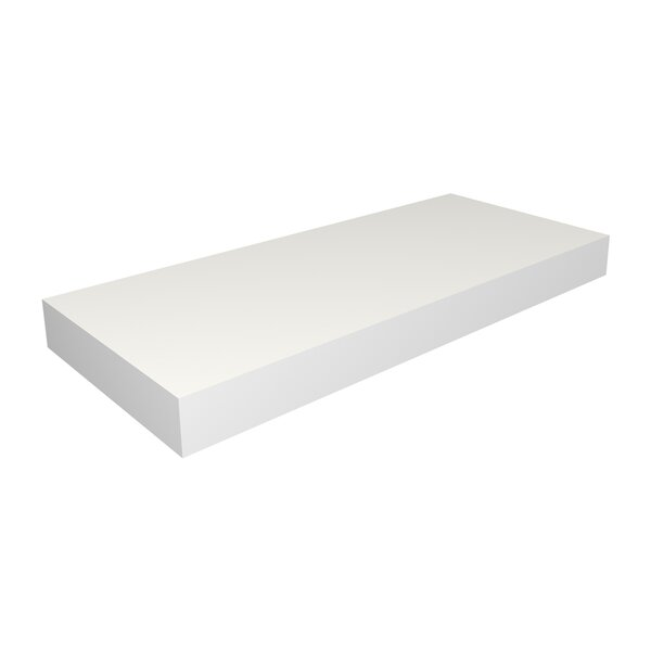 DwellStudio White Floating Medium Shelf