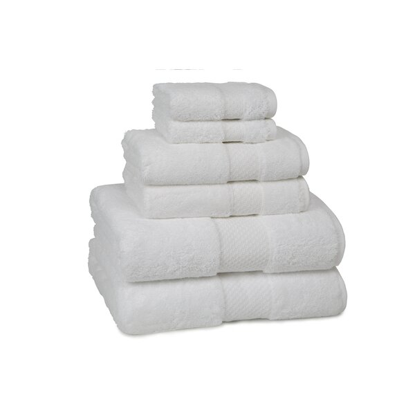 DwellStudio Luxe White 6 Piece Towel Set