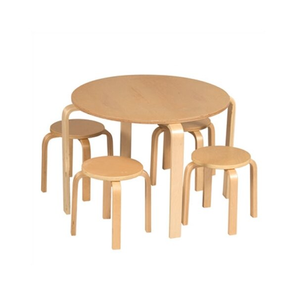 DwellStudio Primary Natural Table & Stool Set