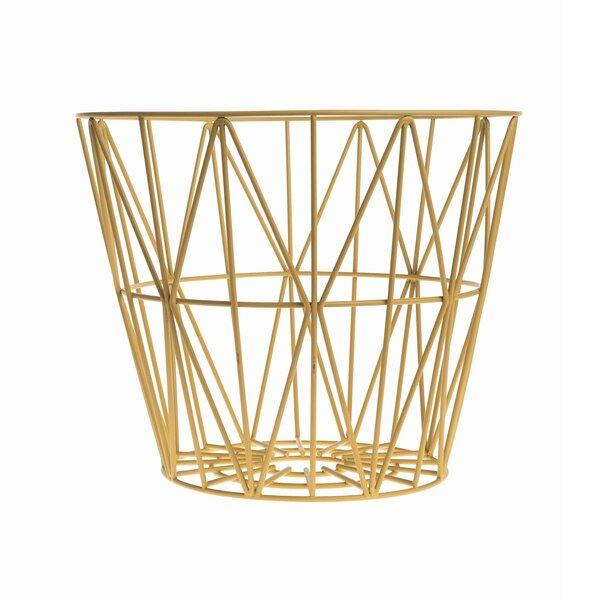 DwellStudio Kimono Citrine Wire Basket