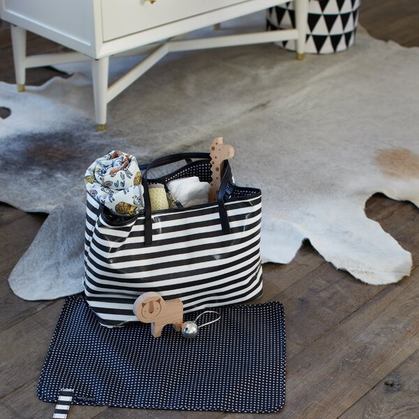 DwellStudio Light Grey Cowhide