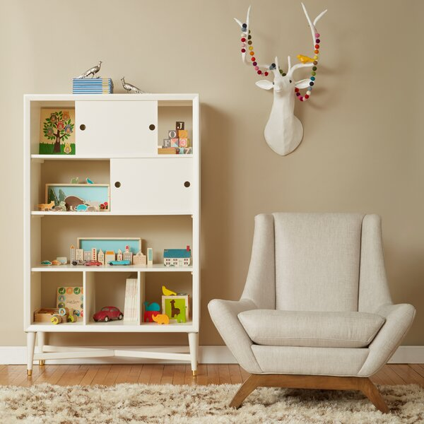 DwellStudio Mid Century French White Bookcase
