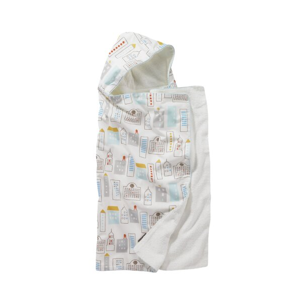 DwellStudio Skyline Light Blue Hooded Towel