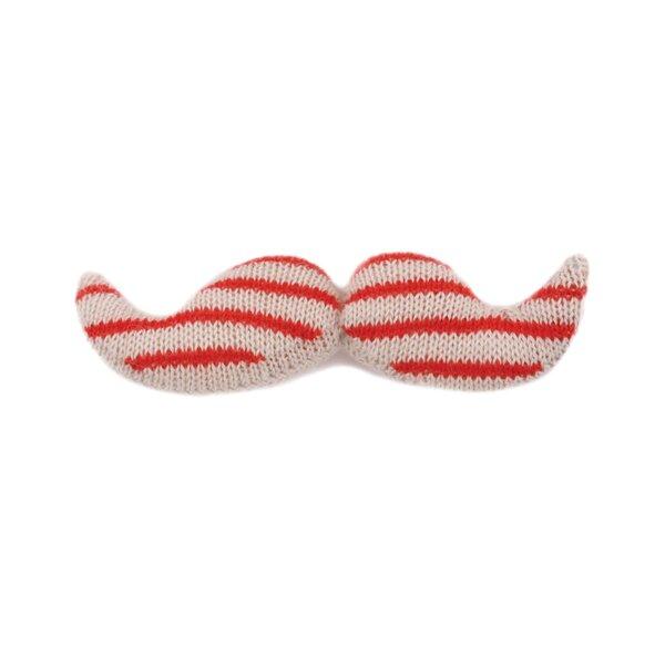 DwellStudio Giant Mustache- White/Coral