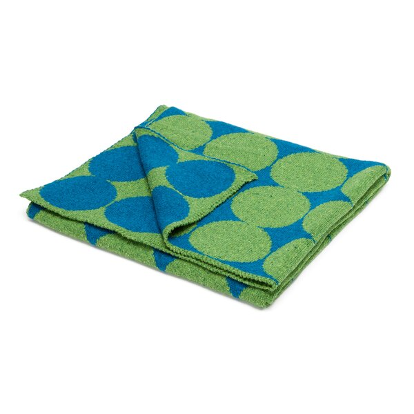 DwellStudio Graphic Dot Lapis & Lime Blanket