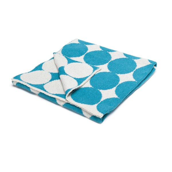 DwellStudio Graphic Dot Azure Blanket