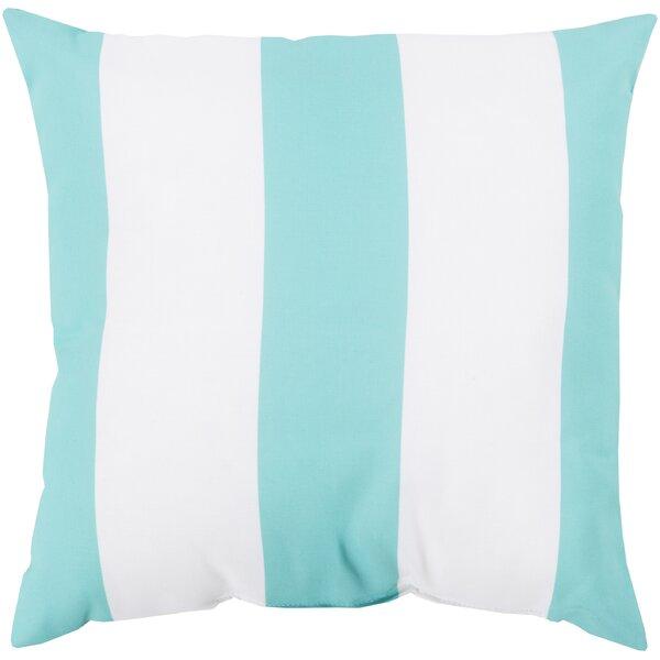 DwellStudio Awning Stripe Aqua Outdoor Pillow