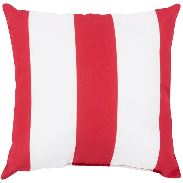 DwellStudio Awning Stripe Crimson Outdoor Pillow