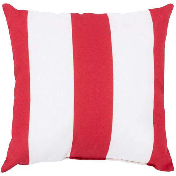 DwellStudio Awning Stripe Crimson Outdoor Pillow