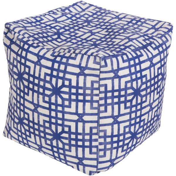 DwellStudio Lattice Marine Pouf Ottoman