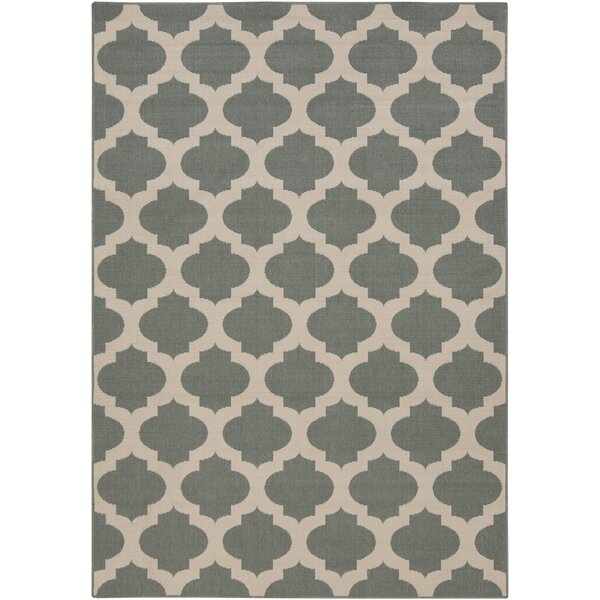 DwellStudio Modern Trellis Pewter Outdoor Rug