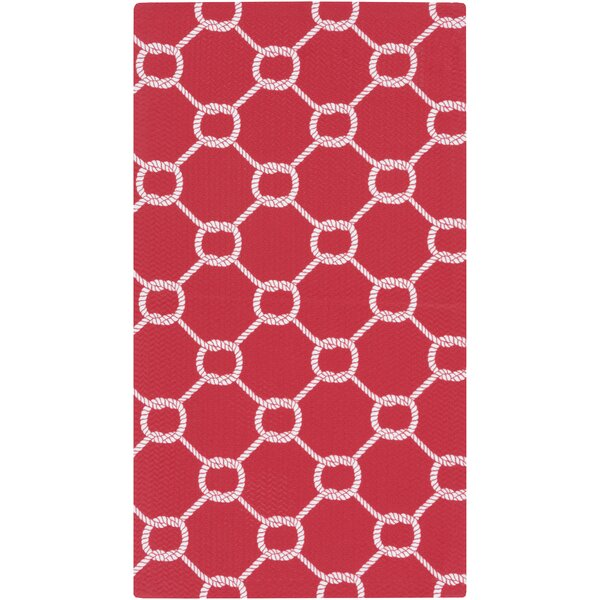 DwellStudio Rope Trellis Crimson Outdoor Rug
