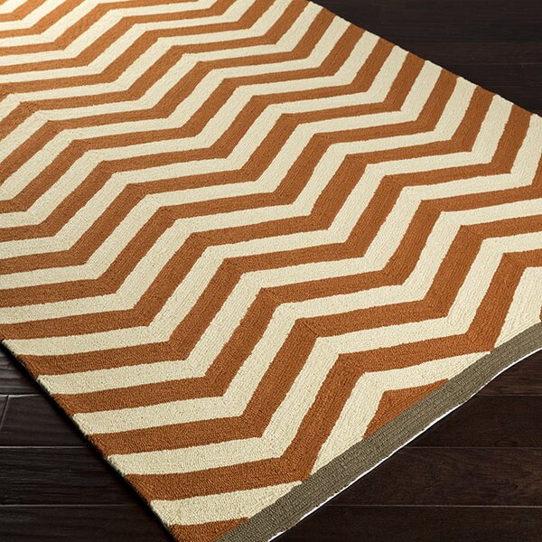 DwellStudio Chevron Chestnut Outdoor Rug
