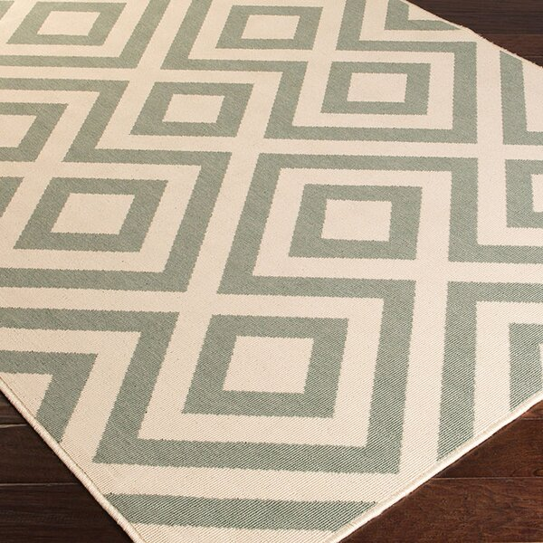 DwellStudio Evans Trellis Dove Outdoor Rug