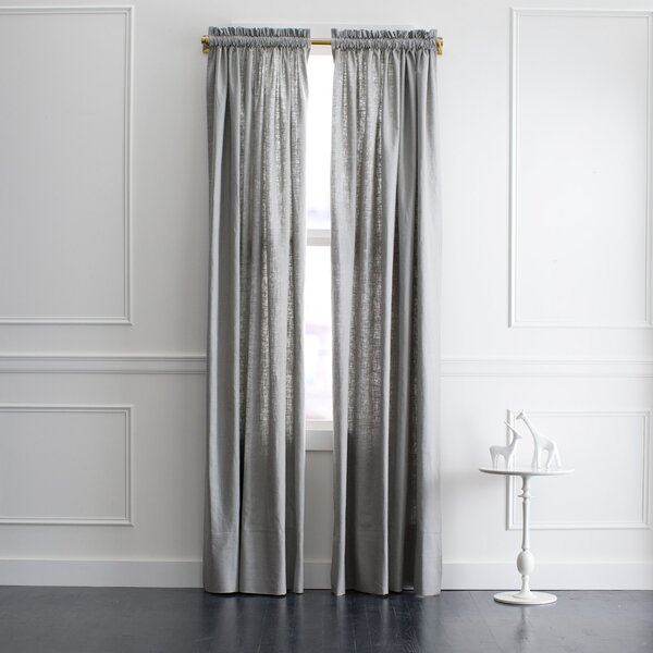 DwellStudio Linen Slub Curtain Panel in Greystone