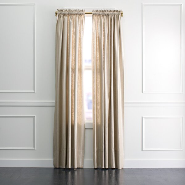 DwellStudio Regency Linen Curtain Panel in Zinc