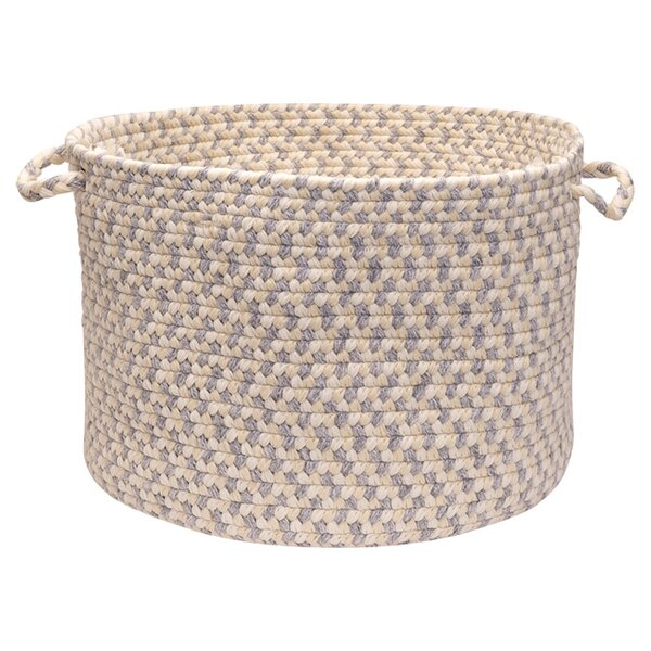 DwellStudio Woven Pindot Bin in Bark