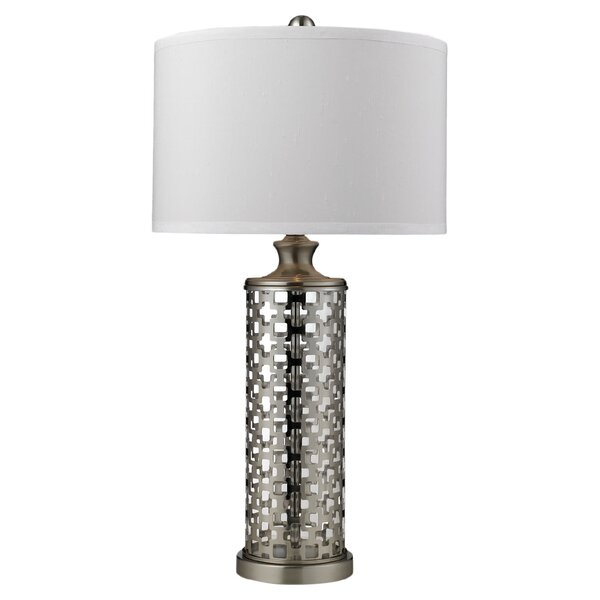 "DwellStudio Lattice 32"" H Table Lamp with Drum Shade"