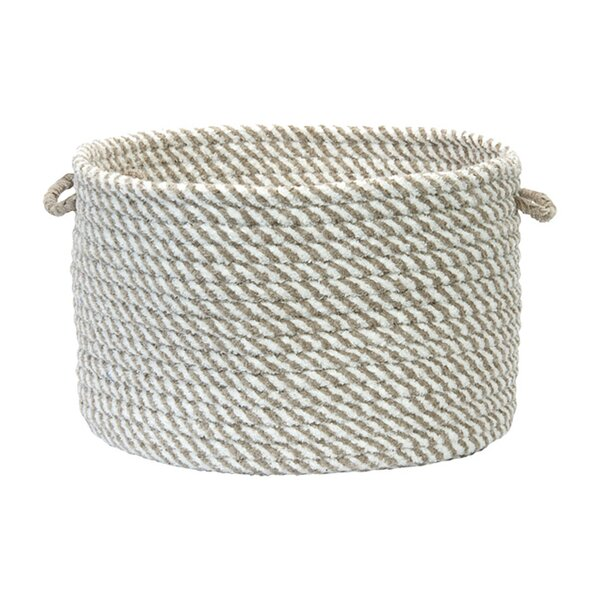 DwellStudio Woven Mini-Stripe Bin in Natural