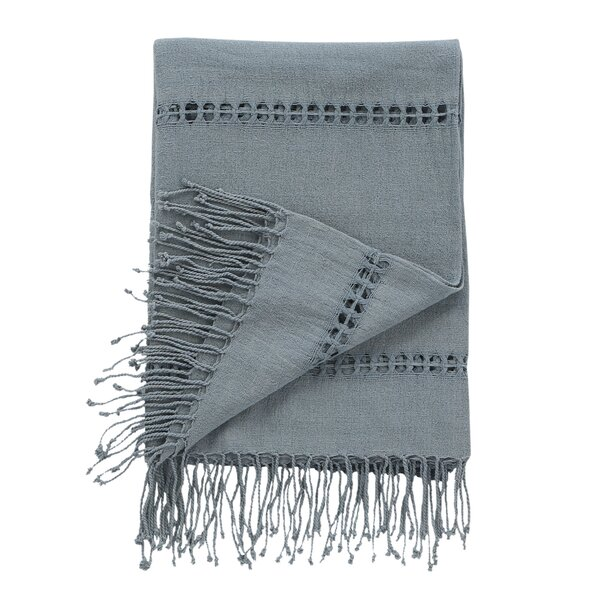 DwellStudio Raw Silk Mist Throw