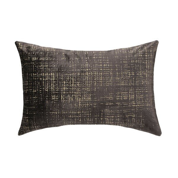 DwellStudio Etched Velvet Espresso Pillow