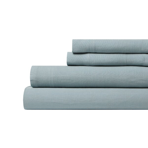 DwellStudio Linen Mist Sheet Set