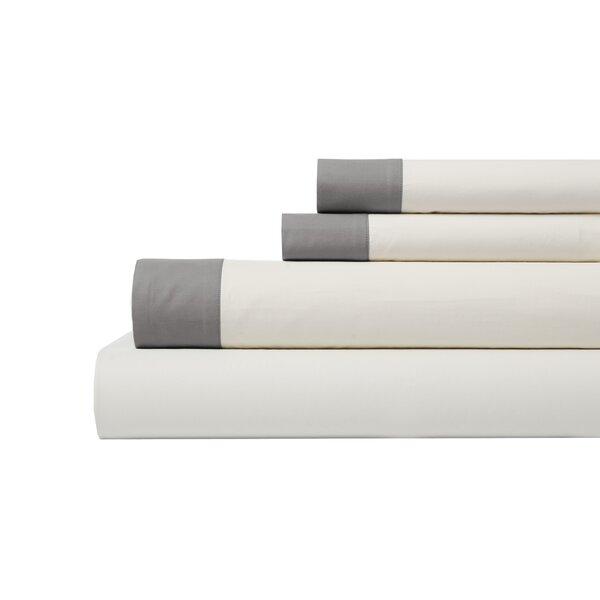 DwellStudio Modern Border Smoke Sheet Set