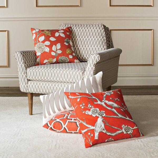 DwellStudio Leda Peony Persimmon Pillow