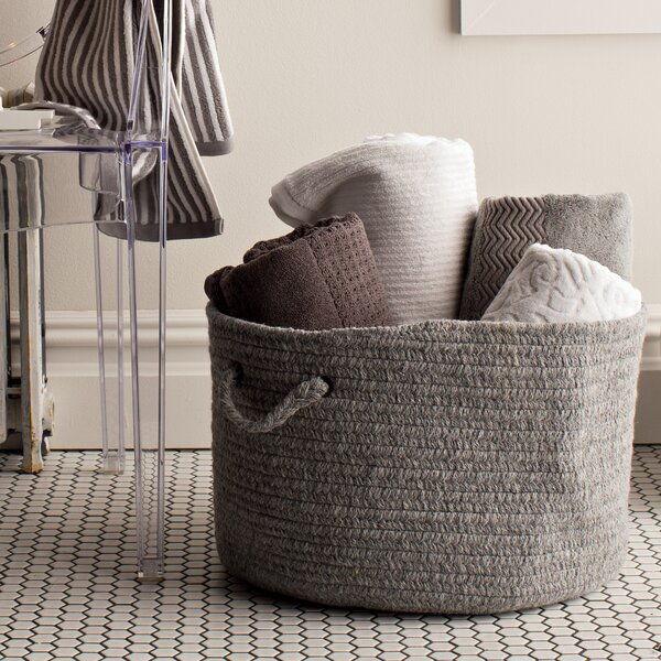 DwellStudio Woven Bin in Dove