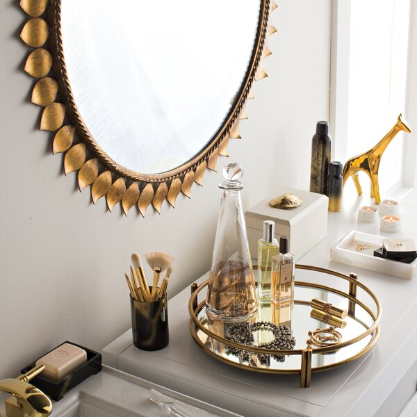 DwellStudio Gold Leaf Mirror