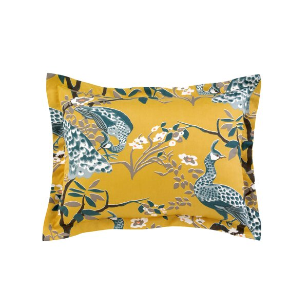 DwellStudio Peacock Citrine Sham