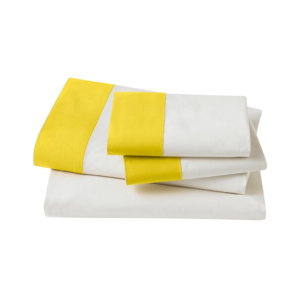 DwellStudio Modern Border Citrine Sheet Set