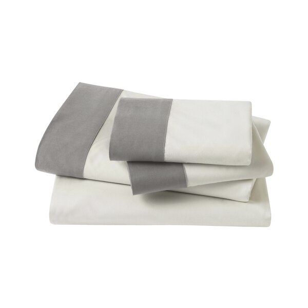 DwellStudio Modern Border Smoke Sheet Set
