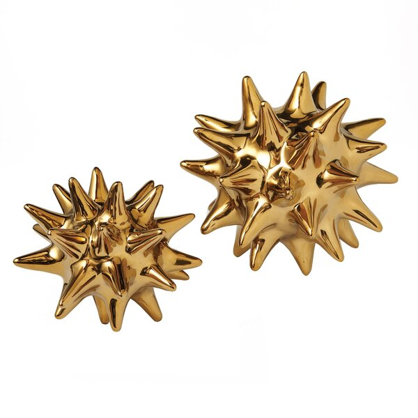 DwellStudio Urchin Shiny Gold Objet