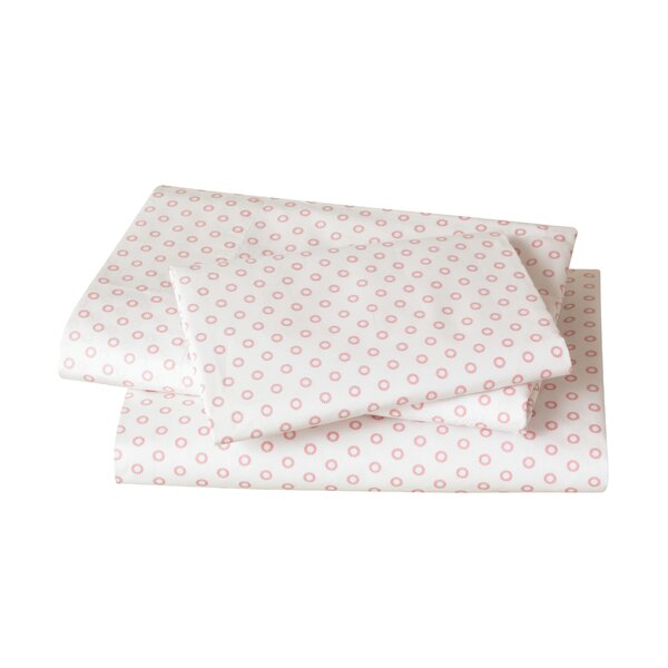 DwellStudio Floral Dot Pale Rose Sheet Set