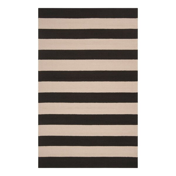 DwellStudio Draper Stripe Ink Outdoor Rug