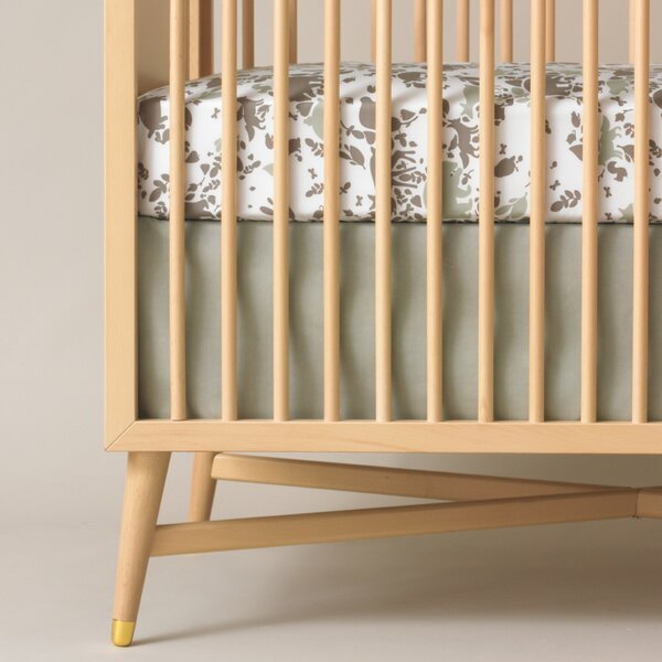 DwellStudio Solid Moss Canvas Crib Skirt