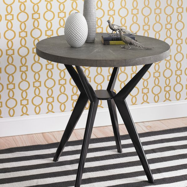 DwellStudio Odin Grey Shagreen Side Table