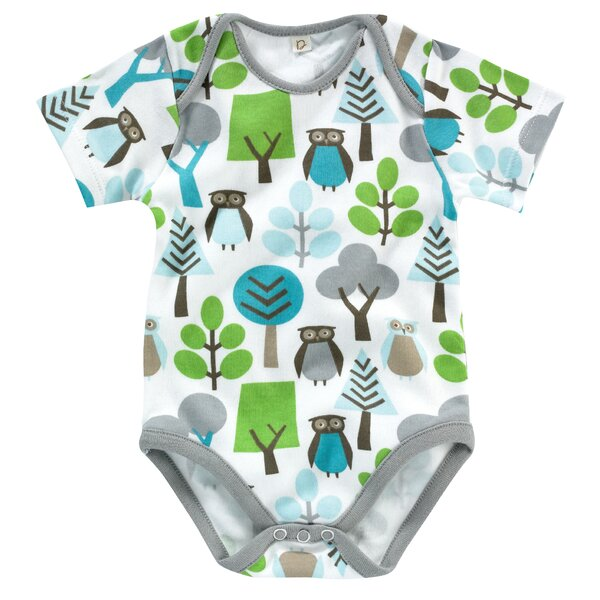 DwellStudio Owls Short Sleeve Bodysuit