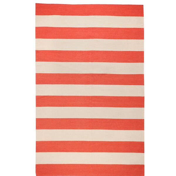 DwellStudio Draper Stripe Brick Red Rug