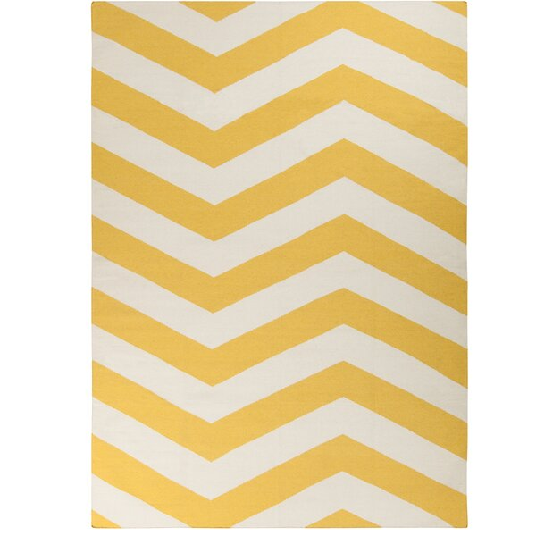 DwellStudio Zig Zag Yellow Rug