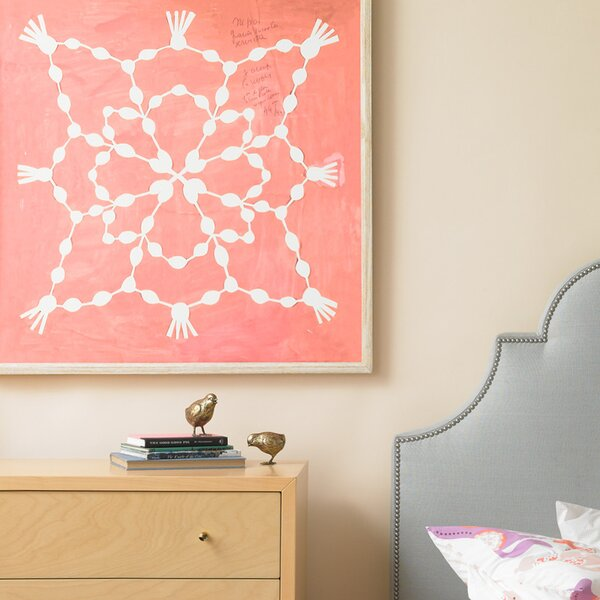 DwellStudio Paule Marrot Pink Maze Artwork