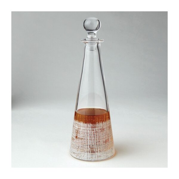 DwellStudio Crosshatch Cone White Decanter