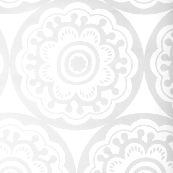 DwellStudio Circle Zinnia Ice Wallpaper